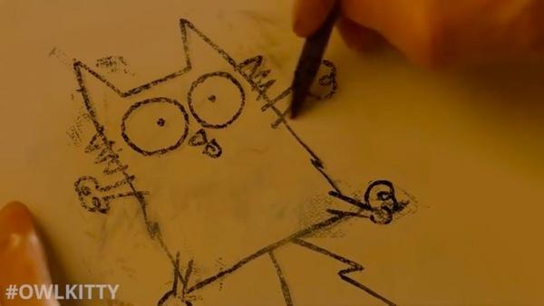 下手な猫の絵