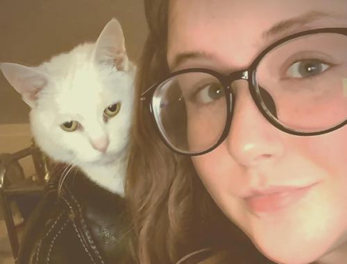 革ジャンを着た猫