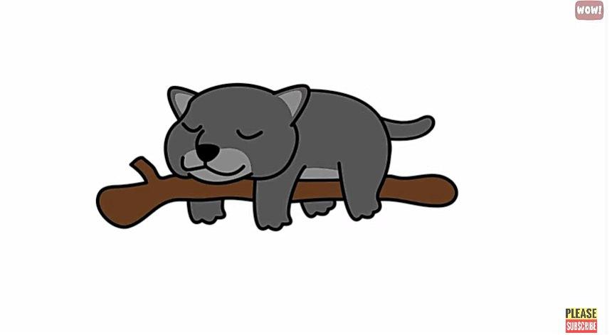 モノレール寝する猫