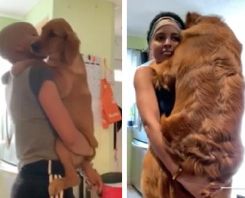 癌を乗り越え愛犬とダンスをする女性