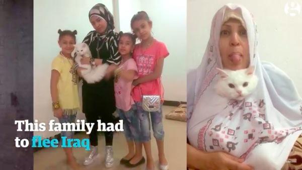 避難前の家族写真