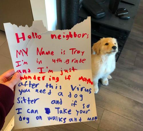 近所の子供から届いた手紙