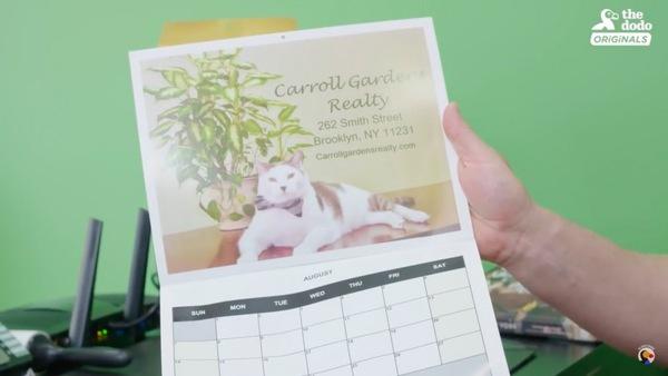 カレンダーになったバレンティノ